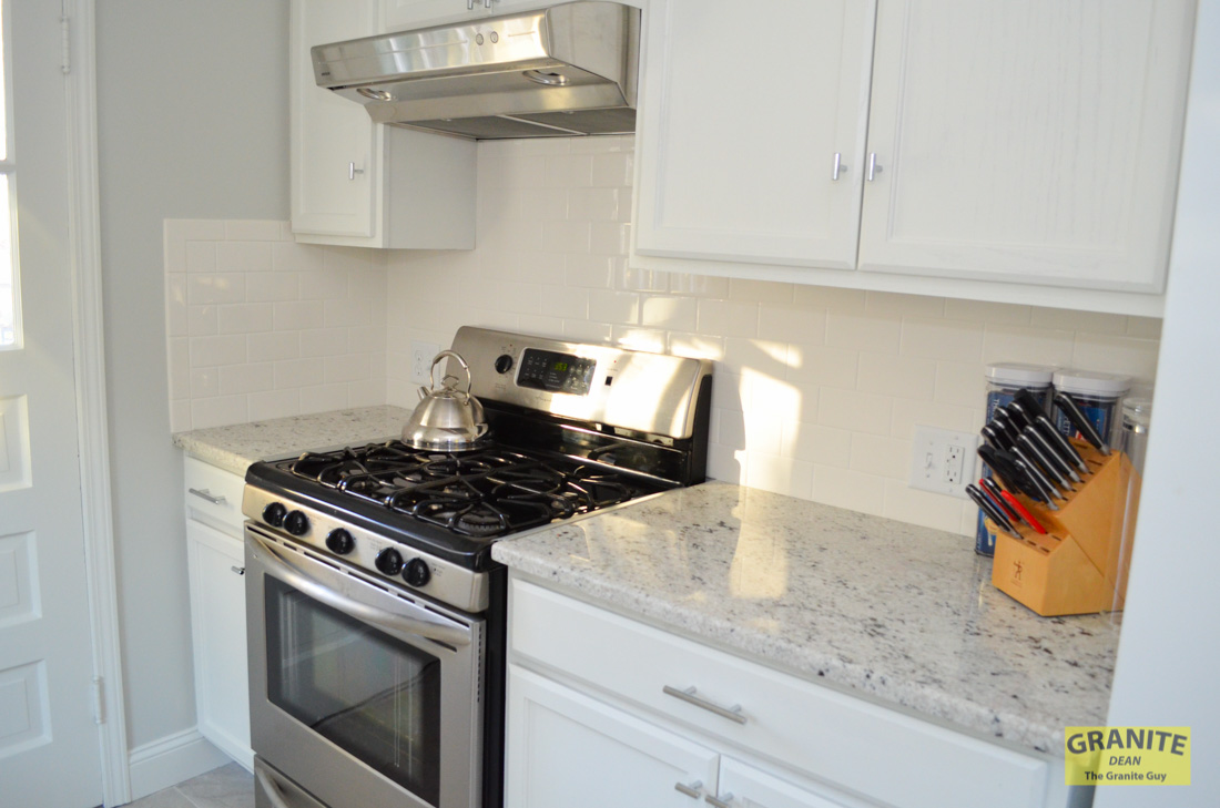 Countertop Upgrades : Cotton White Granite Kitchen Counter Upgrades ? Kansas City, MO ...