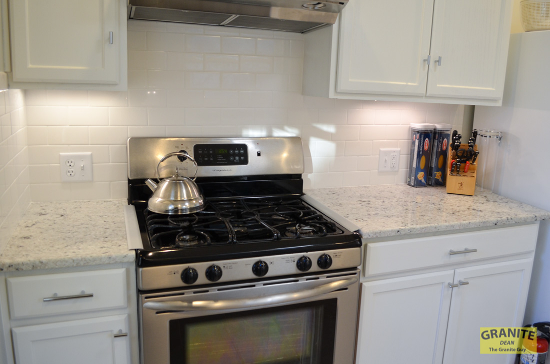 Cotton White Granite Kitchen Counter Upgrades Kansas