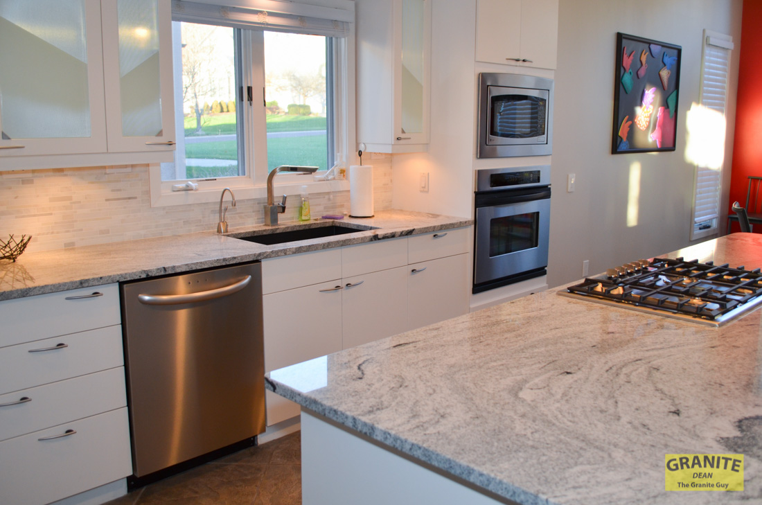 Siberian White Granite Makes This Contemporary Kitchen