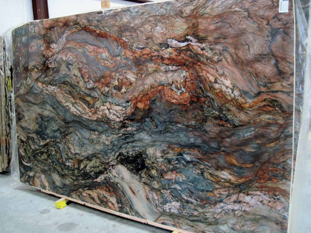 Exotic granites often feature rich colors and mesmerizing patterns.