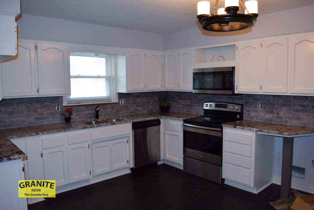 New Granite Counter Top Installation for Kelley in Raymore, MO